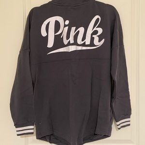 Victoria's Secret PINK Varsity Grey Sweater Small